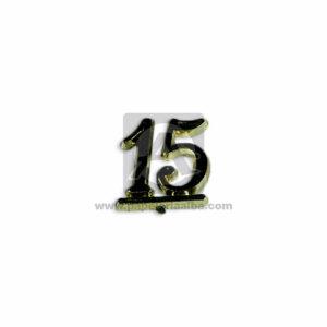 recordatorio de Quince años Numero 15 Pastificado Mega Import Dorado Pequeño