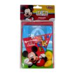 tarjeta de invitación  Con Sobre Motivo Mickey Mouse Sempertex Azul Rojo 8 unidades Niño