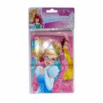 tarjeta de invitación  Con Sobre Motivo Princesas de Disney Sempertex Rosado 8 unidades Niña