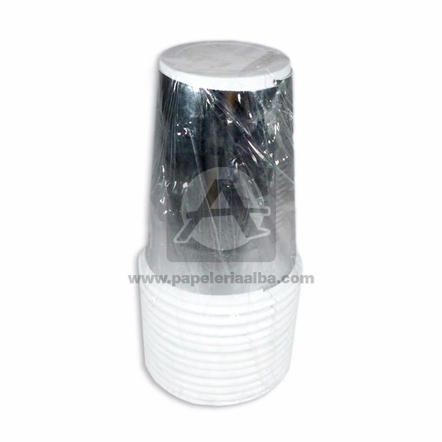 vaso  holografico mag #2572 Miguel Antonio Plateado 7 Onzas 12 unidades