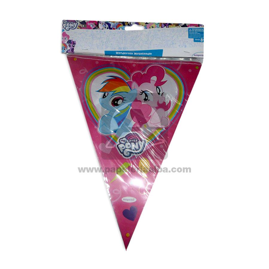Banderín   Metalizado My Little Pony Sempertex 3,6 Metros 1 unidad Niña