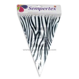 Banderín con estilo de Cebra Sempertex 1 unidad unisex 3,6 Metros