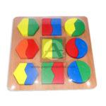 Encajable  de Figura Geometricas GO-0199 Geoz Multicolor unisex Madera