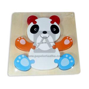 Encajable de animales motivo de Oso panda Geoz Madera Multicolor unisex
