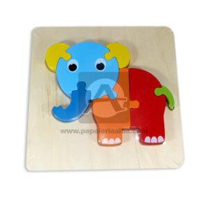 Encajable de animalitos motivo Elefante Geoz Multicolor unisex Madera