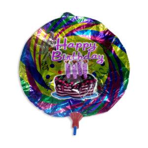Globo metalizado Happy Birthday N°003 Surtifantasias 1 unidad femenino