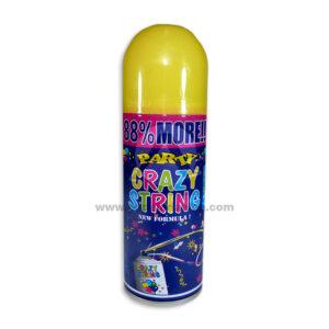 Serpentina En Spray Party Crazy String N°05 El Puntazo 250 ml 1 unidad amarillo