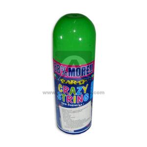 Serpentina en Spray Party Crazy String El Puntazo 250 ml 1 unidad verde