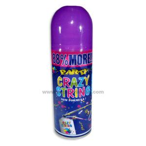 Serpentina en Spray Party Crazy String N°02 Sempertex 250 ml 1 unidad Lila