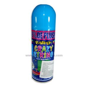Serpentina en Spray Party Crazy String N°04 El Puntazo 250 ml 1 unidad Azul Celeste