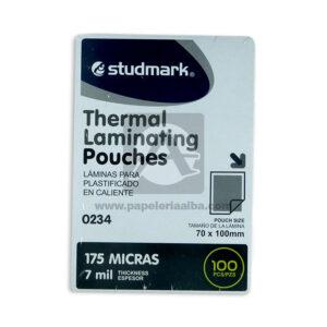 acetato de laminación Therm Laminating Pouches Studmark 100 Unidades 70x100