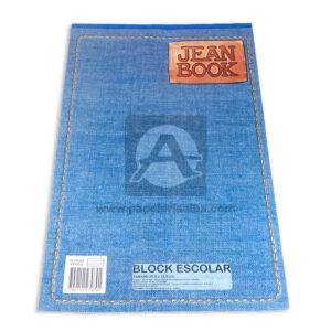 block Jean Book Norma rayado 80 hojas Oficio blanco