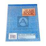 block  Jean Book Sin Rayas Norma Media Carta 80 hojas blanco