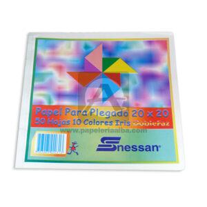 block de Papel Iris para Plegado Nessan 50 hojas 20x20