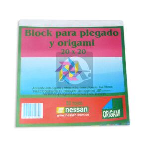block de papel para plegado y Origami Nessan Surtido 50 hojas 20x20