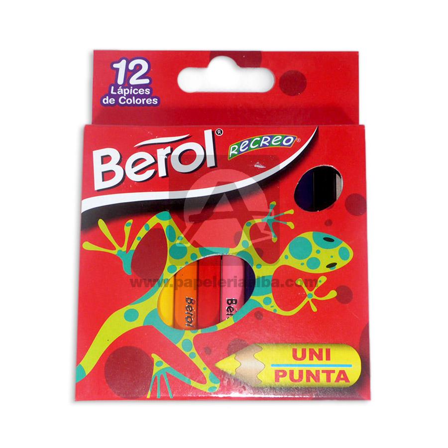 color  Recreo N°341 Unipunta Berol 12 unidades Pequeño