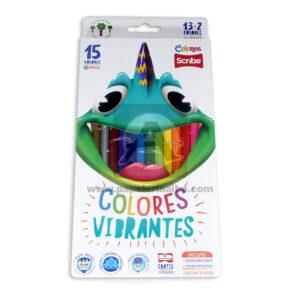 color vibrantes unipunta scrib 15 Unidades Surtido + Tajalapiz