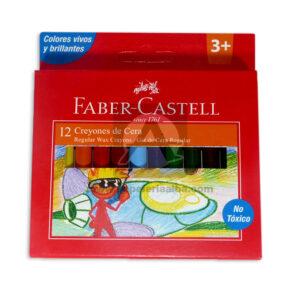 creyon escolar de cera regular faber castell 12 unidades +3 Años Surtido