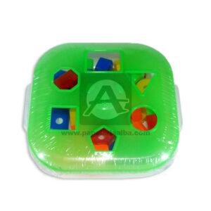 juego didáctico Caja geometrica para aprendizaje Plásticos Royal +3 Años Verde Lima unisex
