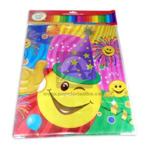 mantel impreso carita feliz C y M 1 unidad unisex