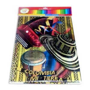 mantel impreso colombia mi tierra querida C y M 1 unidad unisex