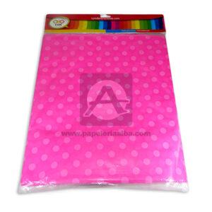 mantel impreso color neutro con puntos N°011 C y M Rosado femenino