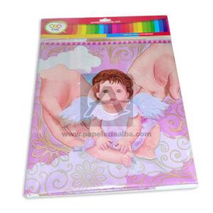 mantel impreso de Bebé Ángel N°014 C y M 1 unidad Rosado Niña