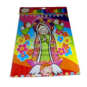 mantel impreso virgen de guadalupe N°019 C y M 1 unidad Multicolor Niña
