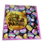 pasta argolla  105 decorada Every Single Moment Matters Primavera femenino Negro Rosado