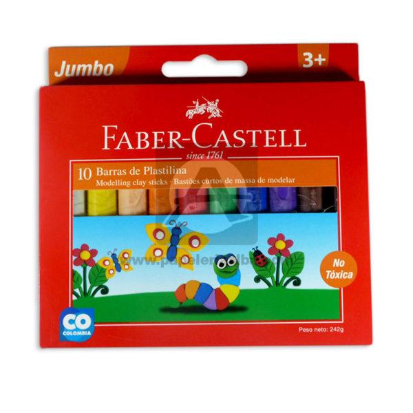 plastilina Jumbo since 1761 faber castell 10 unidades +3 Años Corto