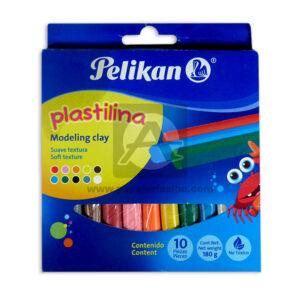 plastilina Modeling Clay No tóxico Pelikan 10 unidades Surtido
