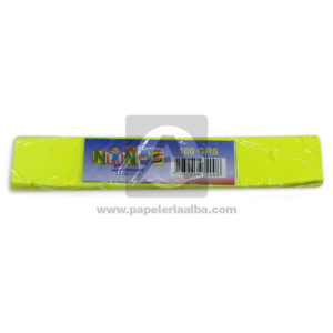 plastilina en Barra para Manualidades y Arte Nessan 100grs amarillo Neón