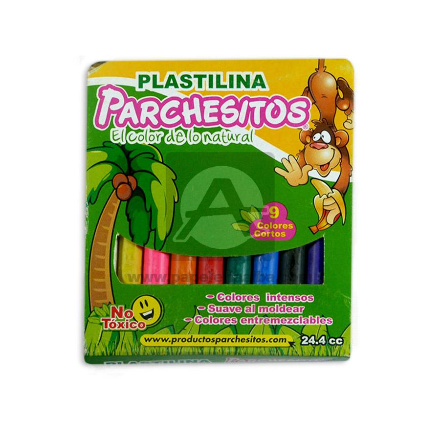 plastilina  escolar el color de lo natural Parchesitos Corto Surtido 9 Unidades