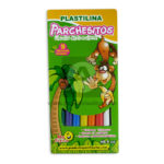 plastilina  escolar el color de lo natural Parchesitos Largo 9 Unidades Surtido