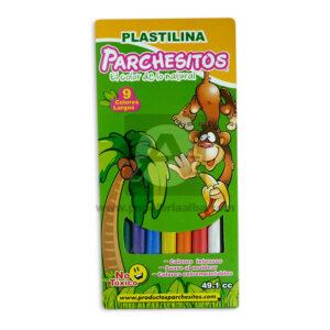 plastilina escolar el color de lo natural Parchesitos Largo 9 Unidades Surtido