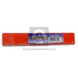 plastilina para Manualidades y Arte N°006 Nessan En barra 100grs Naranja Rojizo