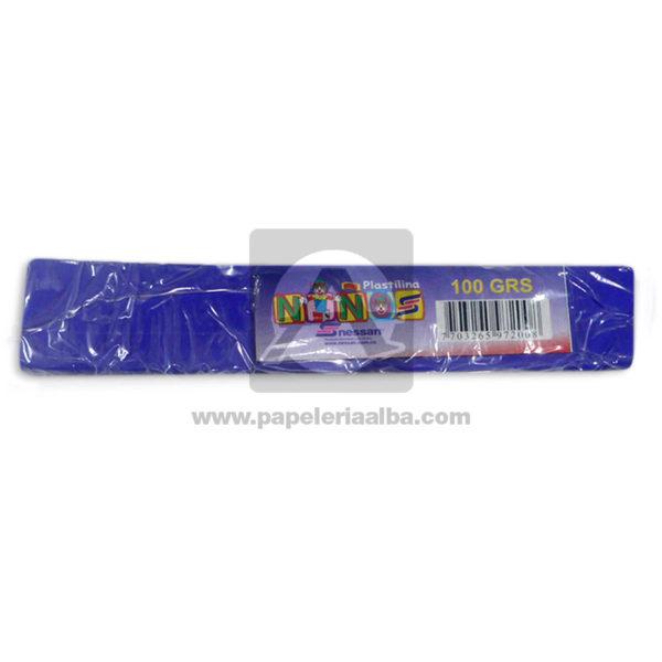 plastilina para Manualidades y Arte N°008 Nessan En barra 100grs morado
