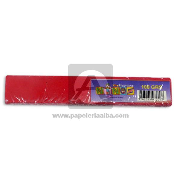 plastilina para Manualidades y Arte N°011 Nessan En barra 100grs Rojo