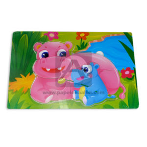 rompecabeza de animalitos Hipopotamos Geoz unisex Mediano Madera
