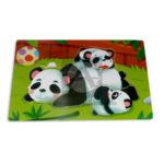 rompecabeza  de animalitos Osos Panda Geoz Madera unisex Mediana
