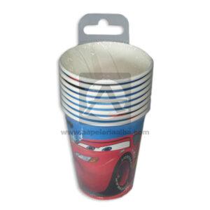 vaso de personajes Cars Cuantias 10 unidades 9 Onzas Niño