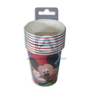 vaso de personajes Mickey Mouse Cuantias 10 unidades 9 Onzas Niño