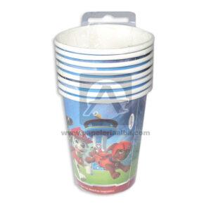 vaso de personajes Paw Patrol Cuantias 10 unidades Niño 9 Onzas