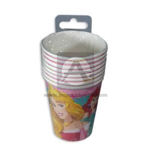 vaso de personajes Princesas Disney Cuantias 9 Onzas 10 unidades Niña