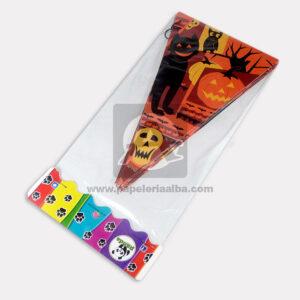Banderín de Halloween Motivos variados Panda naranja Negro Mediano 1 unidad