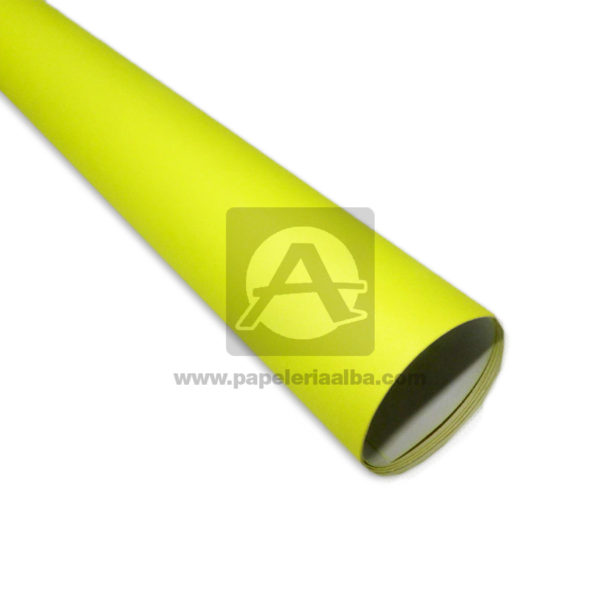 Cartulina Escolar de colores fluorescentes N° 003 Primavera amarillo Neón medio pliego