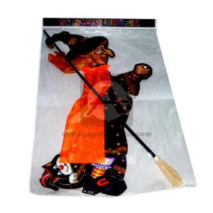 Decoración de Halloween Bruja Voladora Panda Grande naranja Negro unisex