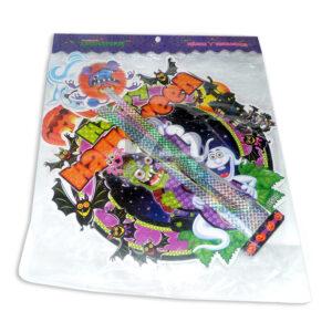 Decoración de Halloween Corona con extensiones motivos variados Arte Icopor Grande Multicolor unisex