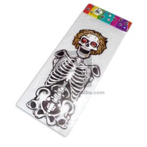 Decoración de Halloween Esqueleto Loco Cuerpo entero Panda Mediano blanco 1 unidad
