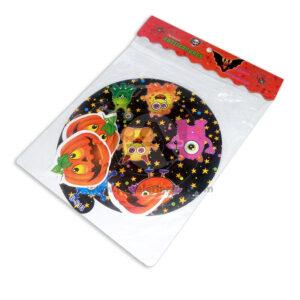 Espirales Motivo de Monstruos Infantiles Arte Icopor naranja Negro Mediano